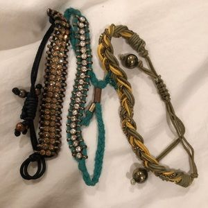 Anthro layering bracelets